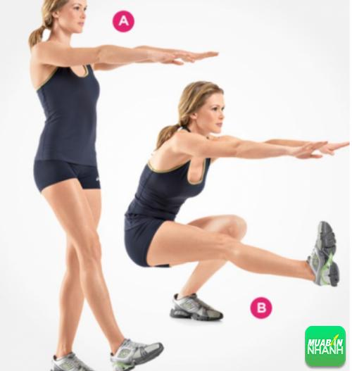 Động tác 4 bài tập luyện thon chân