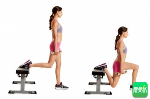 Ngồi xổm một chân – Cố định lưng (Split squat)