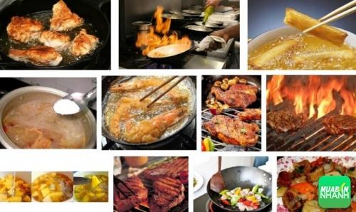 nấu thức ăn ở nhiệt độ cao