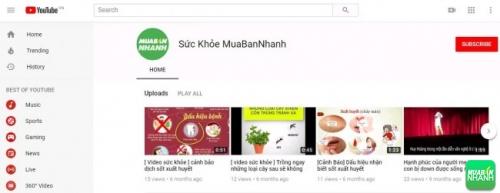 Tin tức sức khỏe tại kênh Youtube